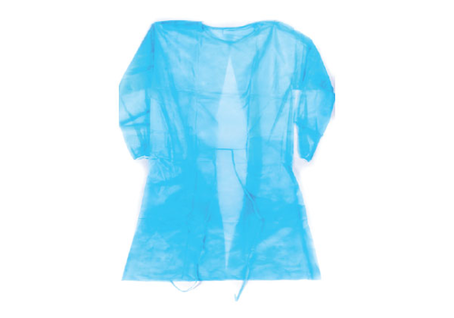 Patient Gown Disposable Long Sleeve blue (Pack of 10), fig. 1